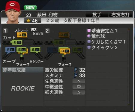 薮田和樹 プロ野球スピリッツ2015 ver1.06