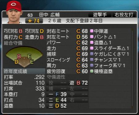 田中広輔 プロ野球スピリッツ2015 ver1.06