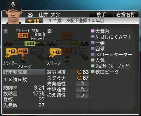 山井大介 プロ野球スピリッツ2015 ver1.07