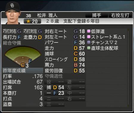松井雅人 プロ野球スピリッツ2015 ver1.07