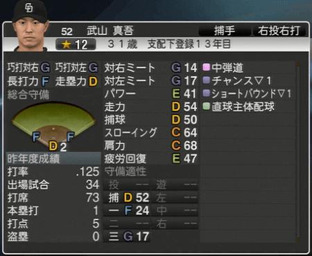 武山真吾 プロ野球スピリッツ2015 ver1.07