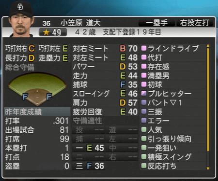小笠原道大 プロ野球スピリッツ2015 ver1.07
