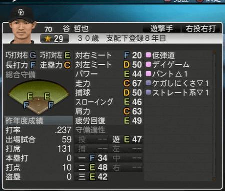 谷哲也 プロ野球スピリッツ2015 ver1.07