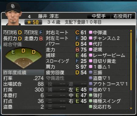 藤井淳志 プロ野球スピリッツ2015 ver1.07