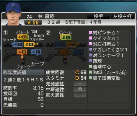 林昌範 プロ野球スピリッツ2015 ver1.07