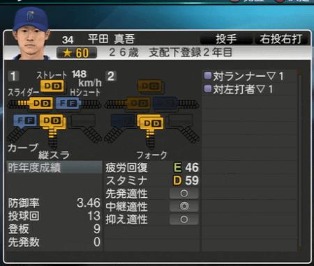 平田真吾 プロ野球スピリッツ2015 ver1.07