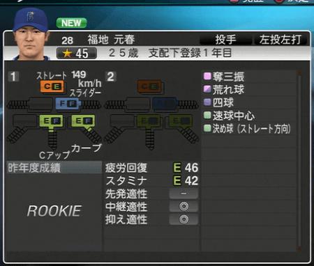 福地元春 プロ野球スピリッツ2015 ver1.07