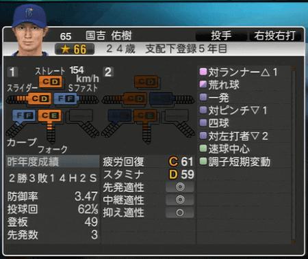 国吉佑樹 プロ野球スピリッツ2015 ver1.07