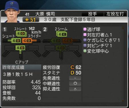 大原慎司 プロ野球スピリッツ2015 ver1.07