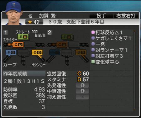 加賀繁 プロ野球スピリッツ2015 ver1.07