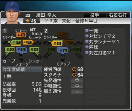 須田幸太 プロ野球スピリッツ2015 ver1.07