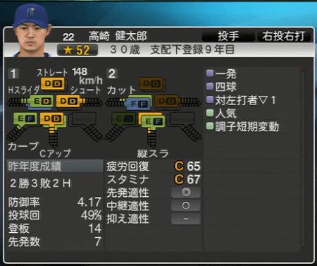 高崎健太郎 プロ野球スピリッツ2015 ver1.07