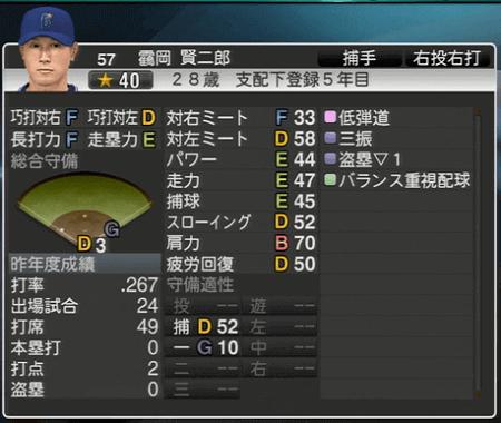 靍岡賢二郎 プロ野球スピリッツ2015 ver1.07