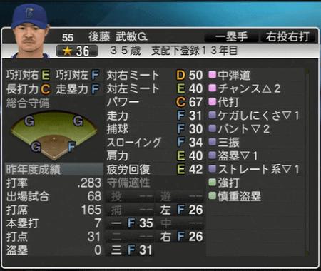 後藤武敏G. プロ野球スピリッツ2015 ver1.07