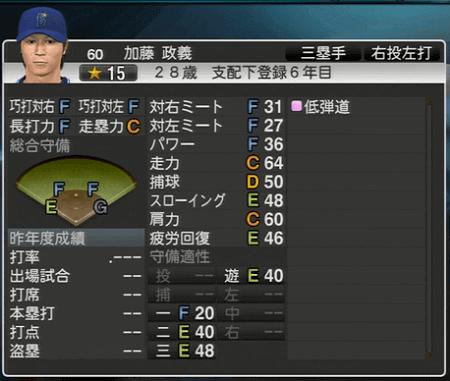 加藤正義 プロ野球スピリッツ2015 ver1.07