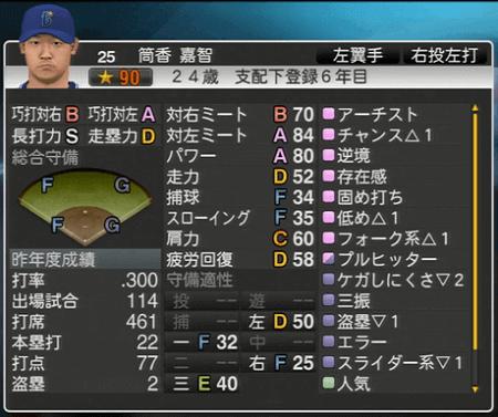 筒香嘉智 プロ野球スピリッツ2015 ver1.07
