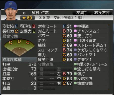 多村仁志 プロ野球スピリッツ2015 ver1.07