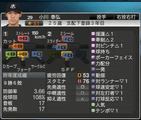 小川秦弘 プロ野球スピリッツ2015 ver1.07