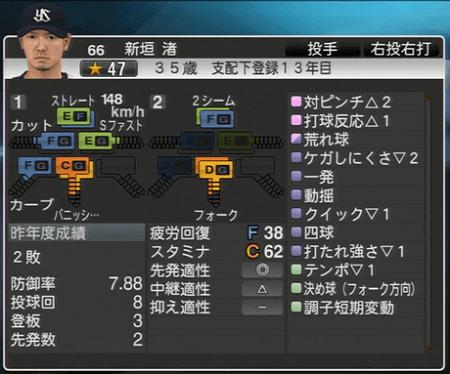 新垣渚 プロ野球スピリッツ2015 ver1.07