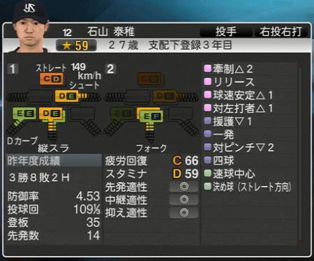 石山秦雄 プロ野球スピリッツ2015 ver1.07