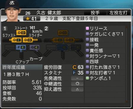 久古健太郎 プロ野球スピリッツ2015 ver1.07