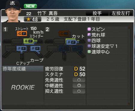 竹下真吾 プロ野球スピリッツ2015 ver1.07