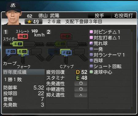 徳山武陽 プロ野球スピリッツ2015 ver1.07