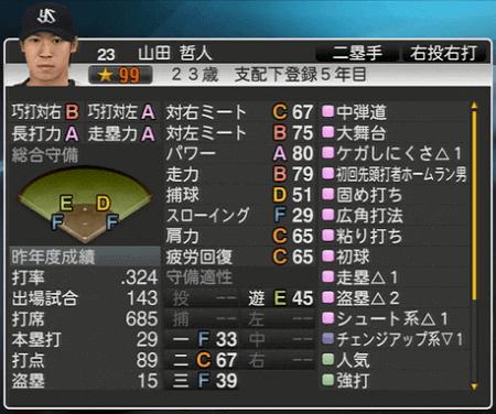 山田哲人 プロ野球スピリッツ2015 ver1.07