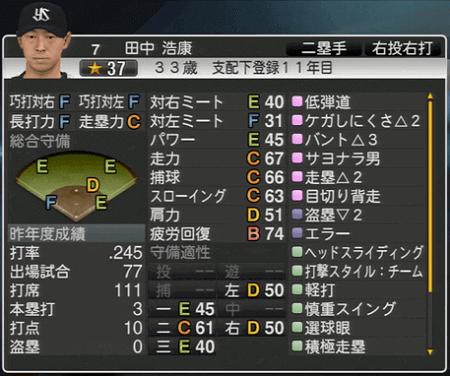 田中浩康 プロ野球スピリッツ2015 ver1.07