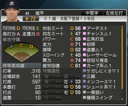 雄平 プロ野球スピリッツ2015 ver1.07