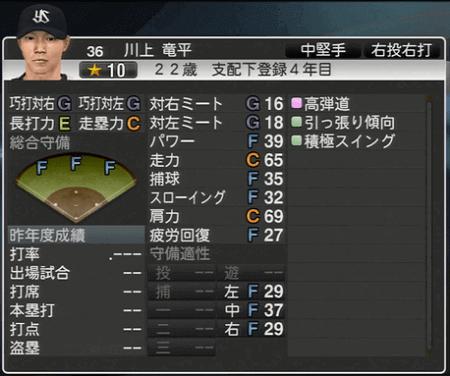 川上竜平 プロ野球スピリッツ2015 ver1.07