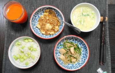 四川 麻婆豆腐&野菜炒め