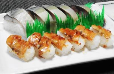 穴子寿司、サバ寿司