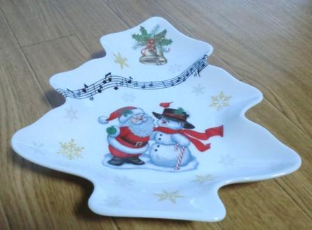 クリスマスシール皿