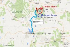 グランドティトンとイエローストーンマップ