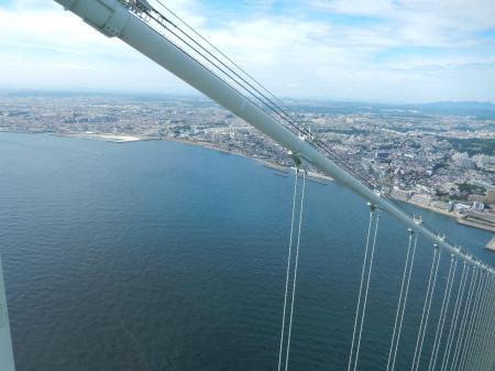 明石海峡大橋 主塔からの眺め 明石側#2