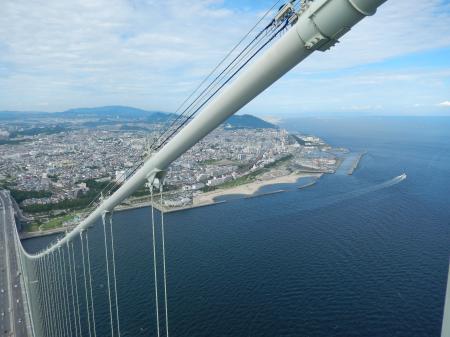 明石海峡大橋 主塔からの眺め 明石側#3