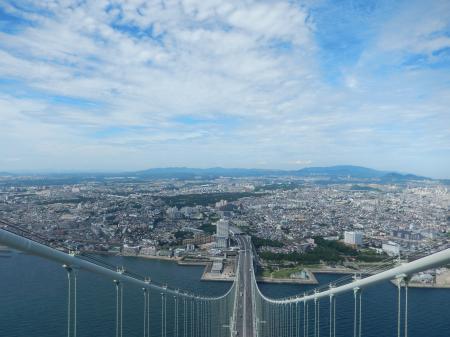 明石海峡大橋 主塔からの眺め 明石側#4