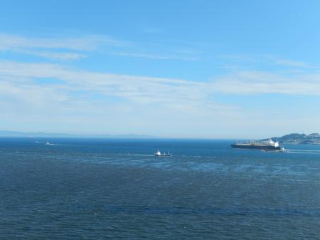 明石海峡大橋 主塔からの眺め 紀伊水道