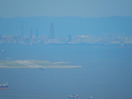 明石海峡大橋 主塔からの眺め 大阪港