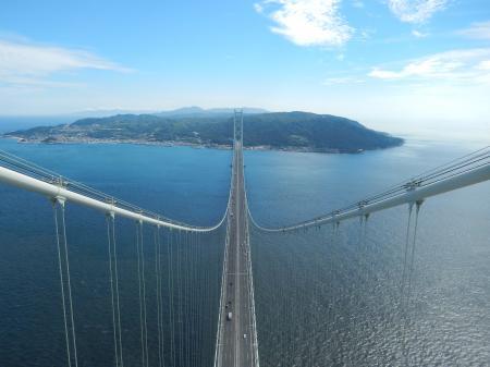 明石海峡大橋 主塔からの眺め 淡路島側#2