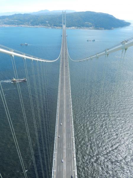 明石海峡大橋 主塔からの眺め 淡路島側