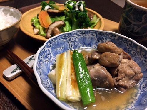 Jan05_鶏煮と長葱焼き
