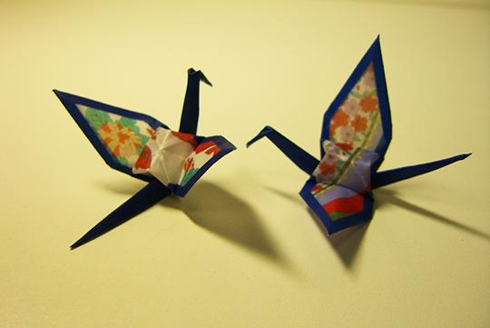 折り鶴 de 「花見で一杯」