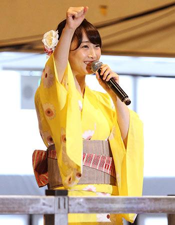 松井玲奈が浴衣姿でファンとバスツアー 「2588日」も熱唱