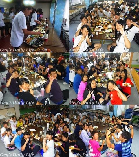 5080208納会食事風景
