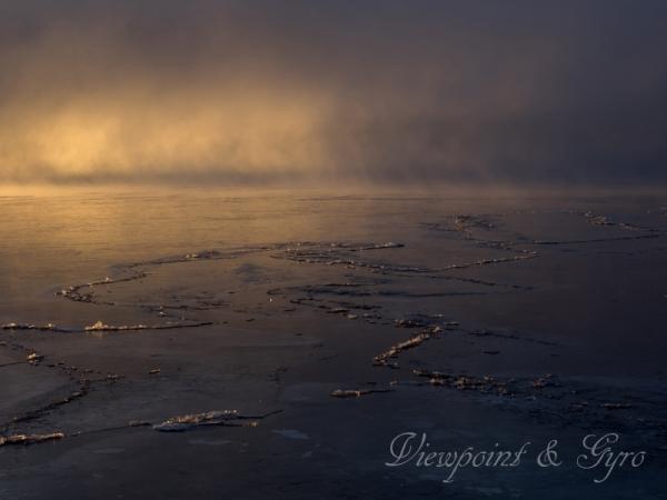 山中湖の朝靄 D