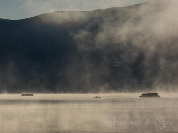 山中湖の朝靄 G