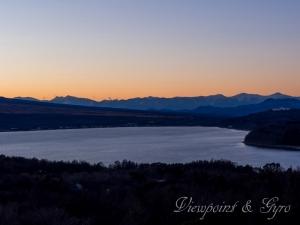 山中湖の夕景 J