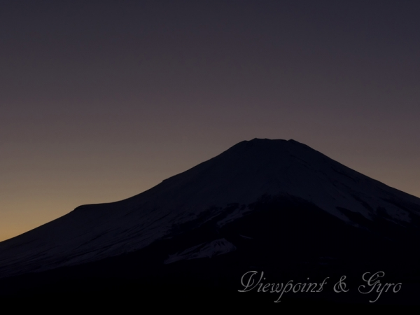 パノラマ台からの富士山 K